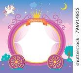 illustration of cute princess... | Shutterstock .eps vector #796914823