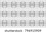 seamless black and white mosaic ... | Shutterstock . vector #796915909