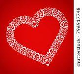 ornament and elegant heart on... | Shutterstock .eps vector #796917748