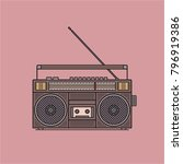old fashioned  retro style... | Shutterstock .eps vector #796919386