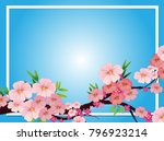 border template with pink... | Shutterstock .eps vector #796923214