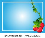 border template with red... | Shutterstock .eps vector #796923238