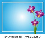 border template with purple... | Shutterstock .eps vector #796923250