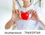 asian nurse in white uniform... | Shutterstock . vector #796929769