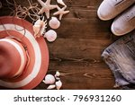 summer theme holiday background | Shutterstock . vector #796931260