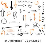 tribal doodle hand drawn vector ... | Shutterstock .eps vector #796933594