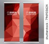 roll up business brochure flyer ... | Shutterstock .eps vector #796933624