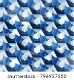seamless diamond bejeweled... | Shutterstock .eps vector #796937350
