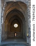 Small photo of VILLENEUVE-LES-AVIGNON / FRANCE - FEBRUARY 2015: Ruins of Gothic church in La Chartreuse, Villeneuve-les-Avignon, France
