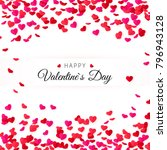 amour valentines day greeting... | Shutterstock .eps vector #796943128