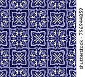 italian tile pattern vector... | Shutterstock .eps vector #796944859
