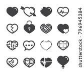 heart icons 2018   Shutterstock .eps vector #796945384