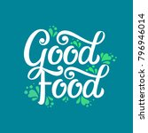 good food typography vector... | Shutterstock .eps vector #796946014