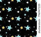 star seamless background. gold  ... | Shutterstock .eps vector #796947220