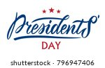 presidents day in usa... | Shutterstock .eps vector #796947406