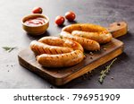Delicious Sausages Grilled With ...
