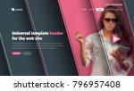modern template header site... | Shutterstock .eps vector #796957408