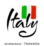 italy hand lettering. name of... | Shutterstock .eps vector #796964056