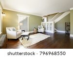 chic green living room with... | Shutterstock . vector #796968550