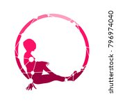 sporty woman silhouette. short...   Shutterstock .eps vector #796974040