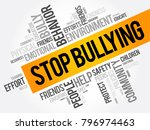 stop bullying word cloud... | Shutterstock .eps vector #796974463