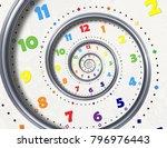 abstract modern white rainbow... | Shutterstock . vector #796976443