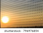 a pattern of nylon mesh with... | Shutterstock . vector #796976854