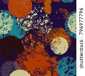 pattern design of textured... | Shutterstock .eps vector #796977796