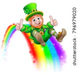 a cute st patricks day... | Shutterstock .eps vector #796979020