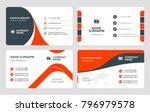 set of 4 business card... | Shutterstock .eps vector #796979578