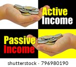 passive income and active... | Shutterstock . vector #796980190