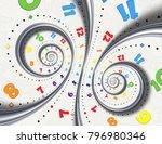 abstract modern white rainbow...   Shutterstock . vector #796980346