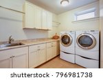light laundry room with tons of ... | Shutterstock . vector #796981738