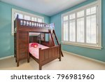 green and blue kids' room with... | Shutterstock . vector #796981960