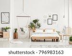spacious bedroom interior with...   Shutterstock . vector #796983163