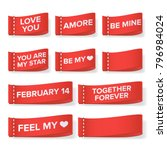 valentine's day clothing labels ... | Shutterstock .eps vector #796984024
