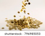 coins on the white ground | Shutterstock . vector #796985053