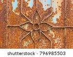 rusty of steel door background  ... | Shutterstock . vector #796985503