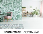 large plant standing by a... | Shutterstock . vector #796987660