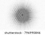 black white dotted halftone... | Shutterstock .eps vector #796990846