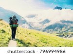 the tour du mont blanc is a...   Shutterstock . vector #796994986