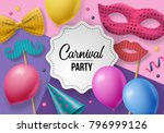 carnival party background with...   Shutterstock .eps vector #796999126