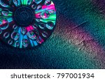 Cd Compact Disc With Colourful...