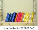 books on the shelf | Shutterstock . vector #797002666