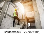 young professional engineer... | Shutterstock . vector #797004484