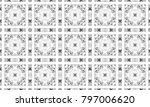 black and white textured... | Shutterstock . vector #797006620