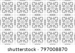 black and white mosaic seamless ... | Shutterstock . vector #797008870