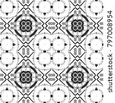 black and white pattern for... | Shutterstock . vector #797008954
