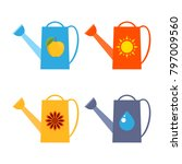 watering can  vector...   Shutterstock .eps vector #797009560