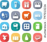 flat vector icon set   delivery ... | Shutterstock .eps vector #797013226